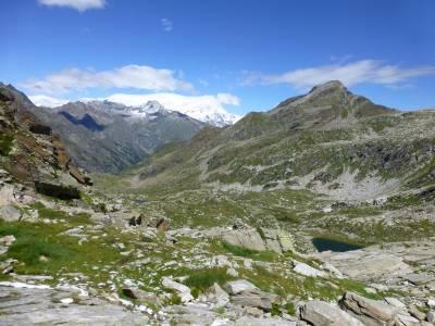 Blick zurück zum Monte Rosa