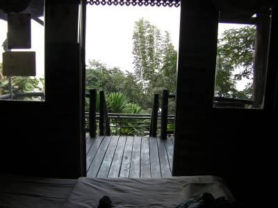 Aussicht aus meinem Zimmer in Na Nam