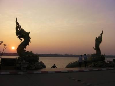 am Mekong in Thakhek